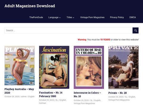 Adult Magazines PDF Thumbnail